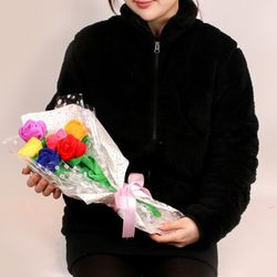 SNS대란 장미꽃다발인형 7color 30cm