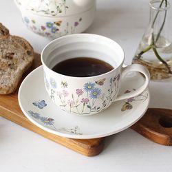 영국 플라워가든 커피잔