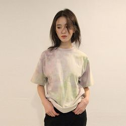 color spread dyeing tee (3colors)