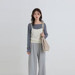 cross strap vest (3colors)