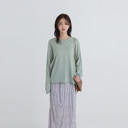 rolling loose round knit (6colors)