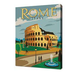 [명화그리기]2030 미니여행-로마 15색 일러스트