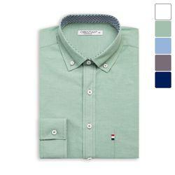 소매 패턴 옥스포드 셔츠 SHT395