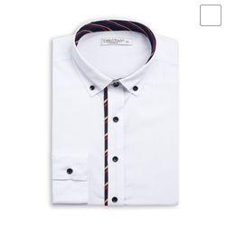 쓰리 배색 포인트 셔츠 SHT392