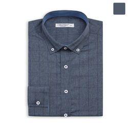 퍼플 라인 체크 셔츠 SHT388