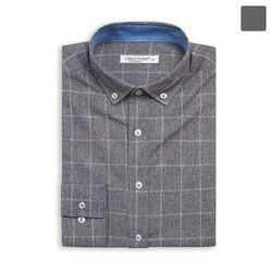 투 라인 사각 그레이 셔츠 SHT387