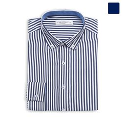 화이트 네이비 스트라이프 셔츠 SHT383