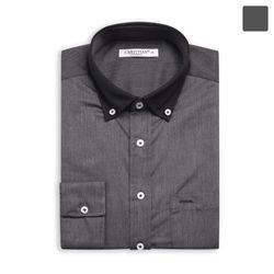 블랙 카라 배색 셔츠 SHT381