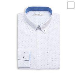 격자 도트 패턴 셔츠 SHT379