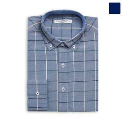 4선 체크 옥스퍼드 셔츠 SHT375
