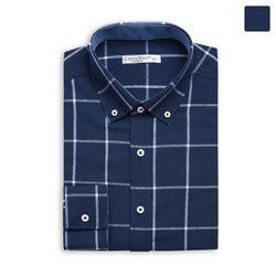 화이트 라인 체크 셔츠 SHT369