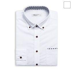빗살 배색 포켓 셔츠 SHT366