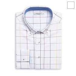 레인보우 격자 패턴 셔츠 SHT365
