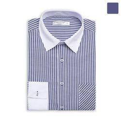 화이트 카라 소매 스트라이프 셔츠 SHT362