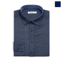 도트 패턴 버튼 다운 셔츠 SHT353