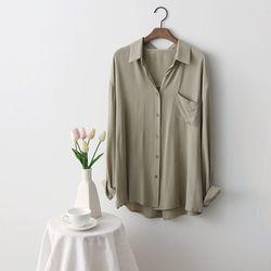 그레이썸 내추럴 루즈핏 카라 데일리 셔츠