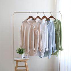 그레이썸 브로큰 루즈핏 언발 데일리 셔츠