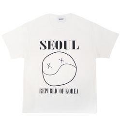 오브젝트 SEOUL SMILE T-SHIRTWHITE