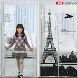 현관/방문 방풍비닐 EVA 에펠탑 투명 90x210
