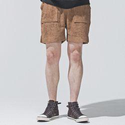 hug+ wear 대나무섬유 하프팬츠(카멜)