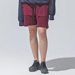 hug+ wear 대나무섬유 하프팬츠(버건디)