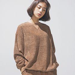 hug+ wear 대나무섬유 스��셔츠(카멜)