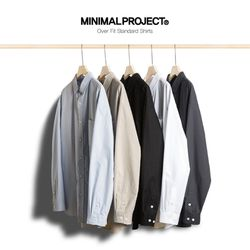 미니멀프로젝트 오버핏 스탠다드 셔츠 MLS201  5color
