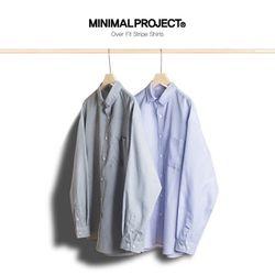 미니멀프로젝트 오버핏 스트라이프 셔츠 MLS202  2color
