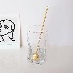 카시오페아 골드라인 유리컵(420ml) 카페유리컵