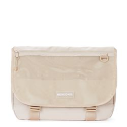 WIDE VISION MESSENGER BAG - LIGHT BEIGE
