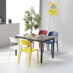 코아 4인용 1000 철제 식탁 테이블 3color (설치기사 조립) CO08