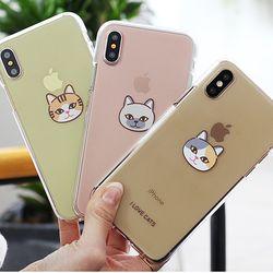 [Try]고양이얼굴 젤리 케이스.아이폰XSMAX