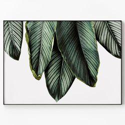 메탈 인테리어 식물 포스터 빈티지 액자 나뭇잎 패밀리 [대형]