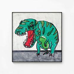 메탈 아이방 공룡 그림 인테리어 포스터 액자 티라노 사우루스