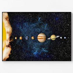 메탈 인테리어 북유럽 우주 아이방 포스터 액자 태양계 [대형]