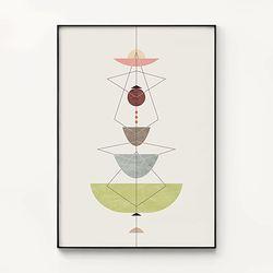 메탈 모던 패턴 포스터 액자 기하학 믹스 플라워 2 [대형]