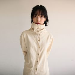 sailor collar cotton shirt (2colors)