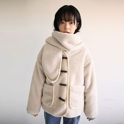 muffler set fuzzy jumper (2colors)