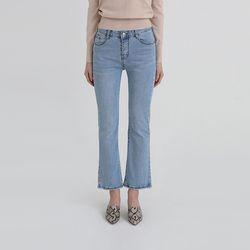 light color boots-cut jeans