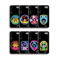 BT21 아이폰7 8Plus X XS XR MAX 네온 그래픽 라이팅 케이스