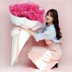 핑크안개 프리저브드플라워 대형꽃다발
