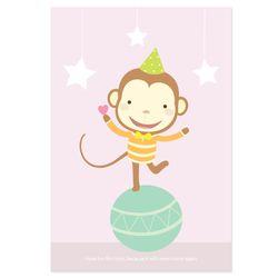 원숭이 엽서