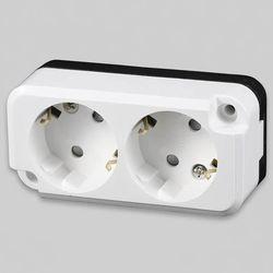 2구콘센트 노출용 일신전기