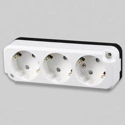 3구콘센트 노출용 일신전기