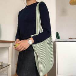 Green stripe bag ( hand made )
