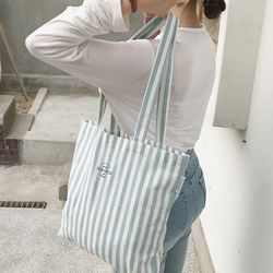 stripe mint bag ( hand made )