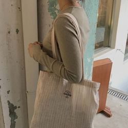 linen natural brown bag ( hand made )