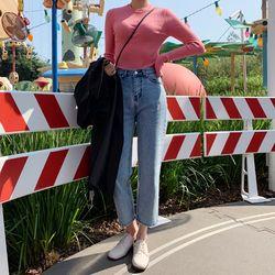 easy point denim pants (s m)