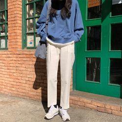 use pintuck cotton slacks