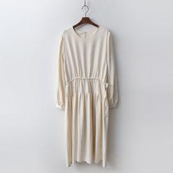 Spring Cotton Shirring Dress